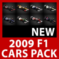 2009 F1 Cars and Helmets Pack